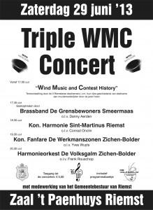 Triple WMC concert Flyer