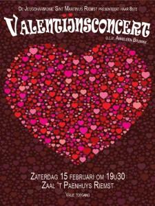 Affiche valentijnsconcert 2014