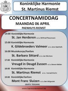 Concertnamiddag 06 April 2015